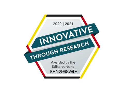 INNOVATIV THROUGH RESEARCH - Awarded by the German Stifterverband für die Deutsche Wissenschaft